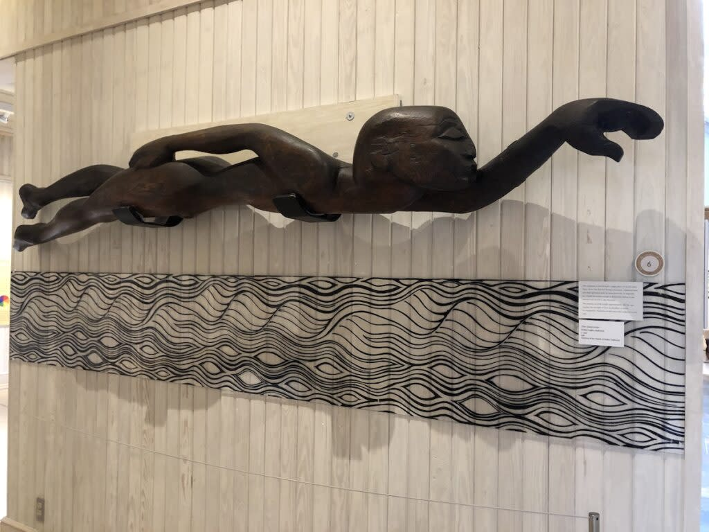 Sculpture hanging on the wall in Walter Anderson Museum of Art.
