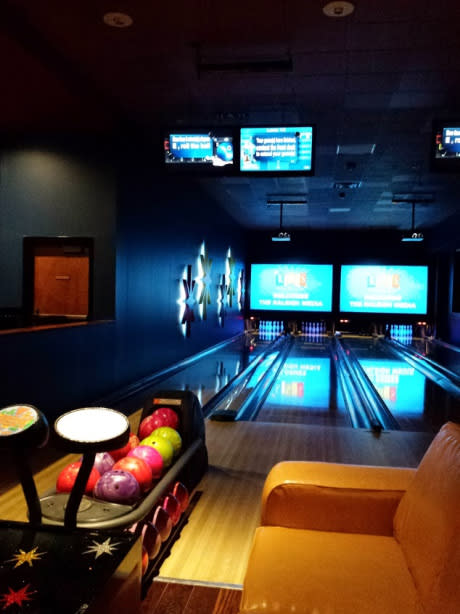 luxury bowling at Kings North Hills, entertainment complex in Greater Raleigh