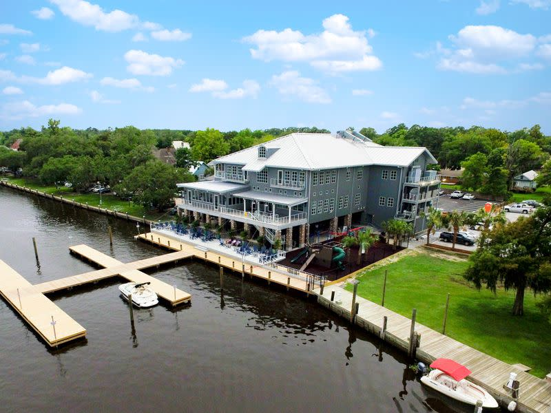 Tchefuncte's, a new Louisiana restaurant led by local culinary star and Georgia native Michael Gottlieb, takes its name from the river it overlooks.  Courtesy of Tchefuncte's.