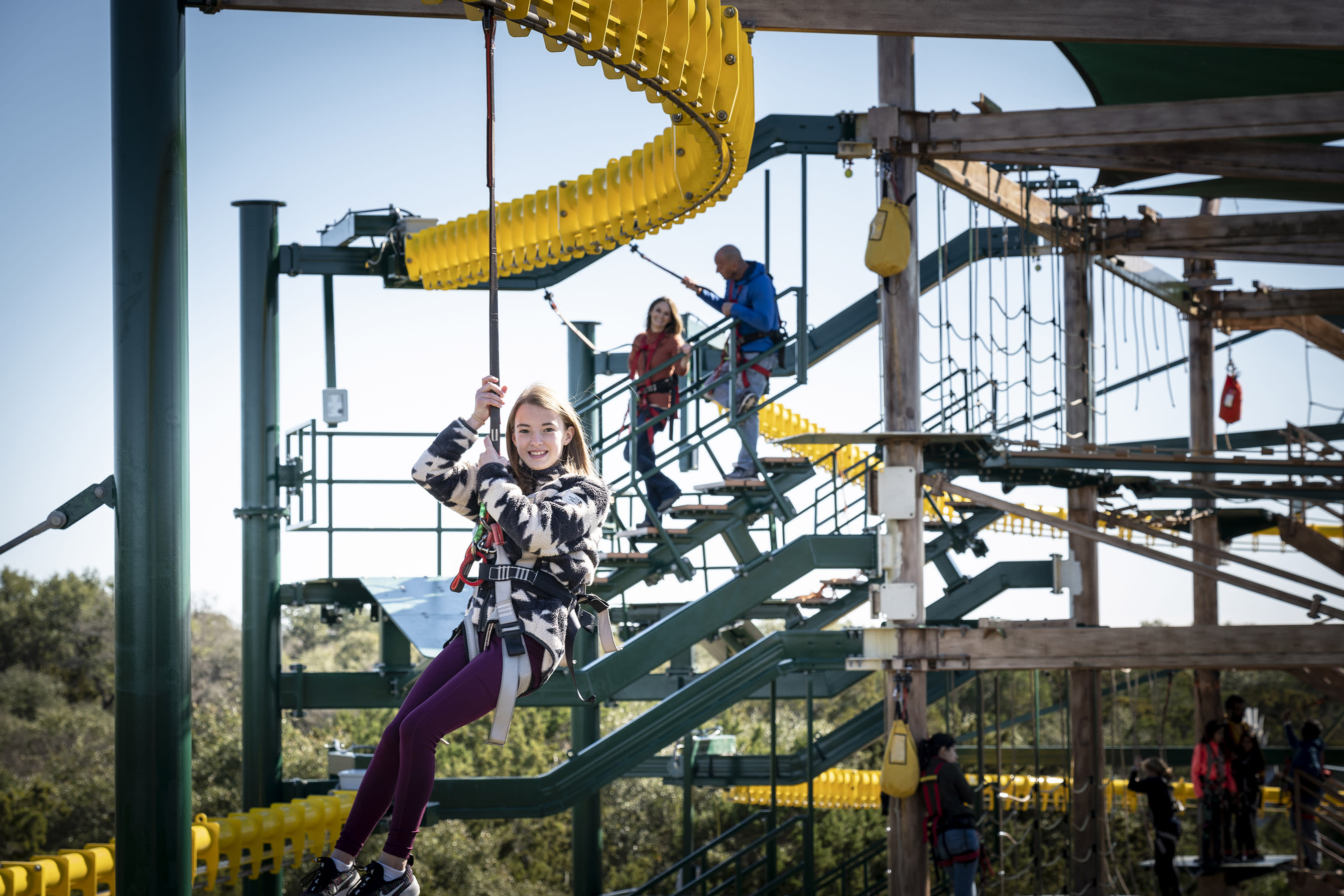 Natural Bridge Caverns takes outdoor entertainment to another level with its newest attraction Twisted Trails. The six stories high aerial ropes course offers 50 elements and incredible Texas hill country views.