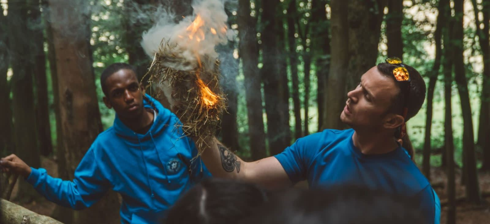 Making a fire as part of Bushcraft, Cumulus Outdoors