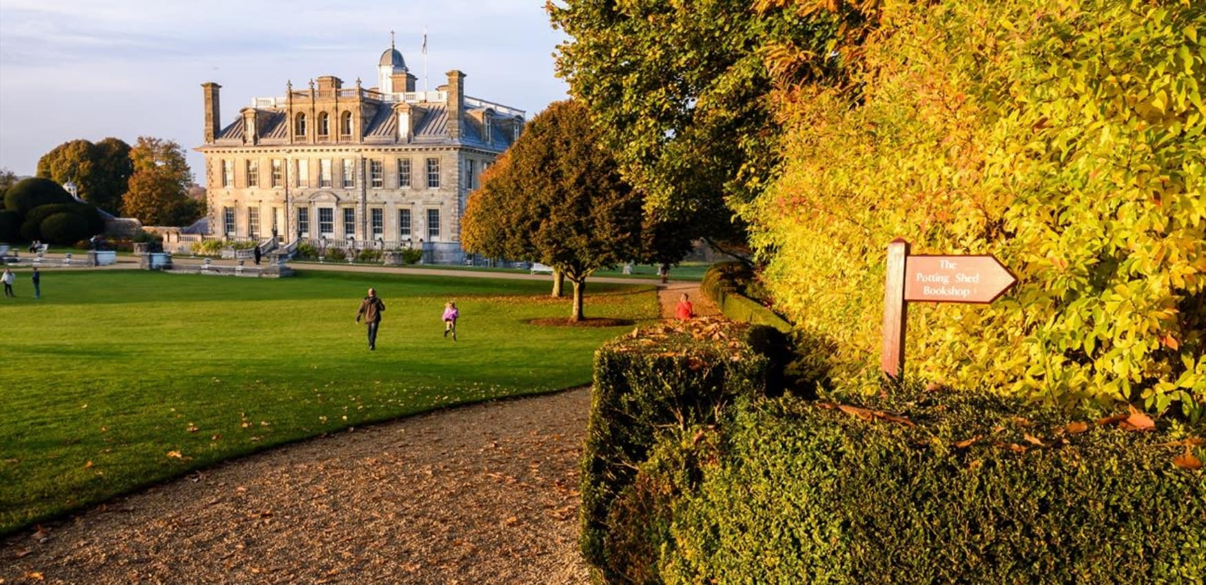 Kingston Lacy house and gardens in autumn