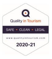 Quality in Tourism's Safe Clean and Legal accreditation scheme logo 2020/2021