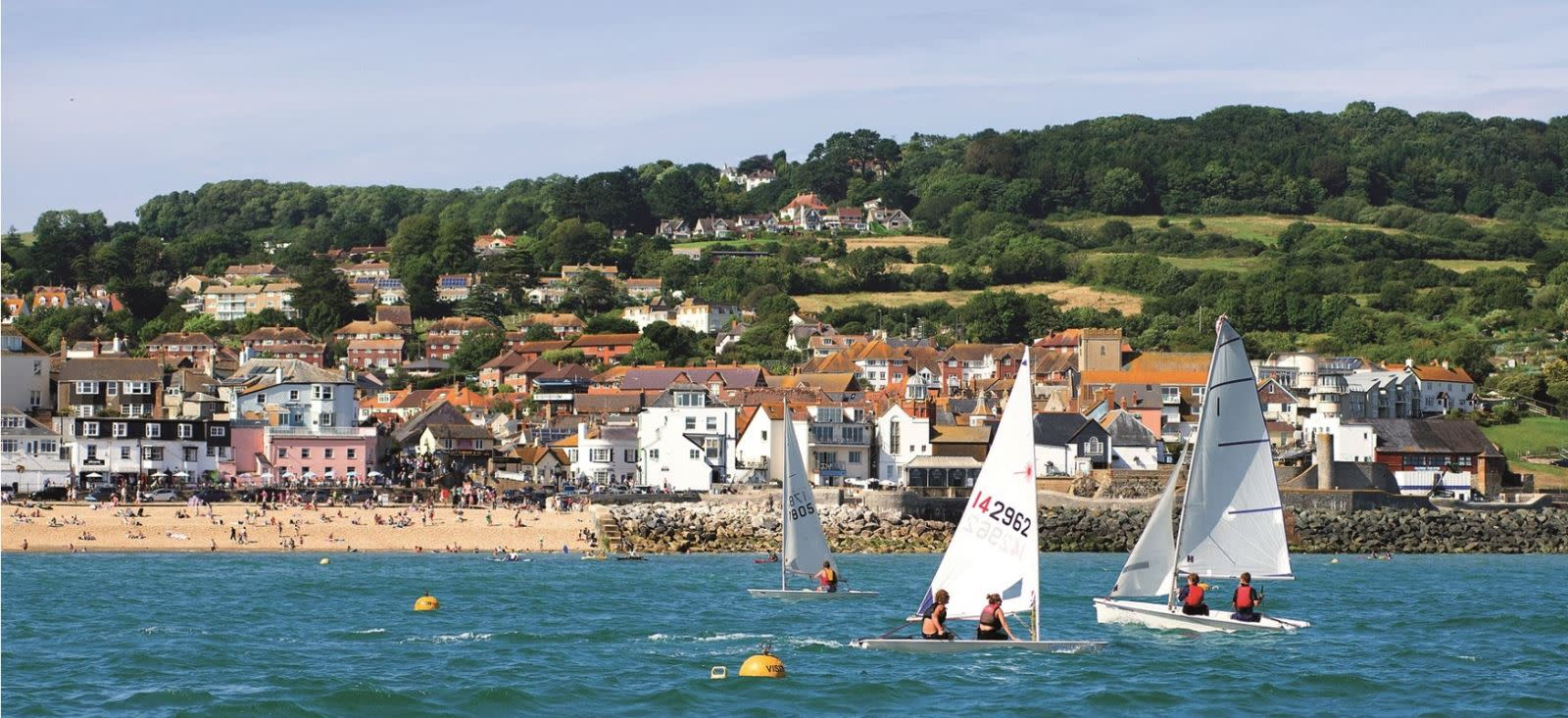 A view of Lyme Regis from the sea