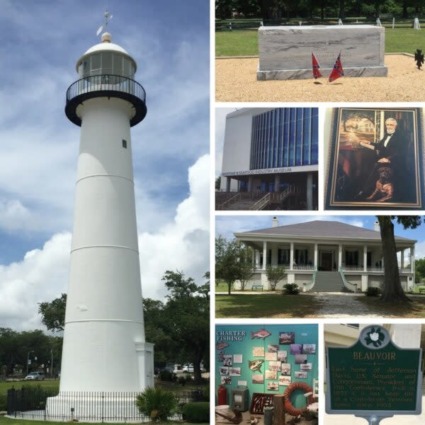Biloxi lighthouse coastal Mississippi