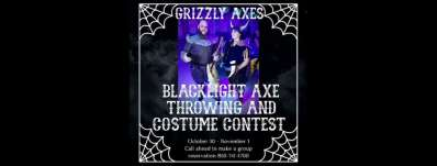 Grizzly blacklight Halloween party