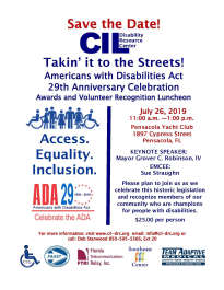 Takin' it to the Streets - 2019 Americans with Disabilities Act (ADA) Awards and Volunteer Recognition Luncheon