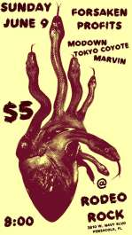 Forsaken Profits, Modown, Tokyo Coyote, Marvin at Rodeo Rock!