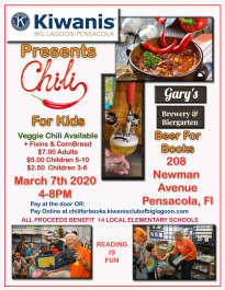 Chili For Books Fundraiser for Kiwanis Club of Big Lagoon