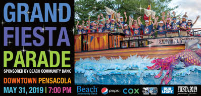 Grand Fiesta Parade, sponsored by Beach Community Bank