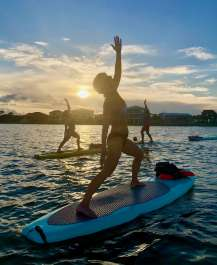 Sunset Yoga on the Water- Sup Style