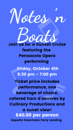 Notes 'n Boats featuring the Pensacola Opera
