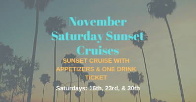 November Saturday Sunset Cruises