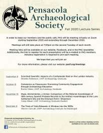 Pensacola Archaeological Society virtual lecture series