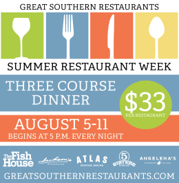 Great Southern Restaurants presents Summer Restaurant Week