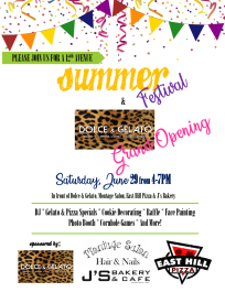 East Hill Summer Festival/Dolce and Gelato Grand Opening