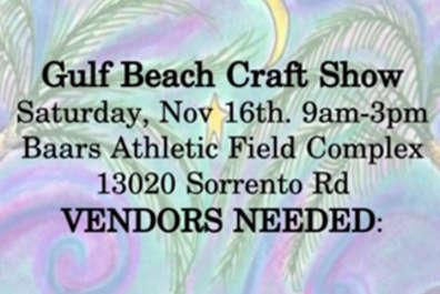 Gulf Beach Craft Show  (New Date)