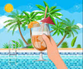 Happy Hour at Latitudes Poolside Bar