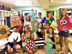 Adoorable Door Paint Night