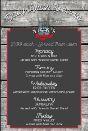 Nick's Boathouse Daily Lunch Specials