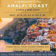 A Celebration of the Amalfi Coast at Angelena's: A Food and Wine Event