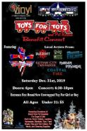 "AJs BraveHearts Toys for Tots & Pet Rescue Benefit Concert Individual Members of Gotham City Troubadour, Pardon The Scars, Buzzcut, Maiden Immortal, Below The Stitch & Coastal Fire will bring the joy & David Lee Roth Era Van Halen Tribute band ""ROTHCHILD"