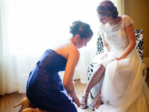 Getting Ready in the Bride Room