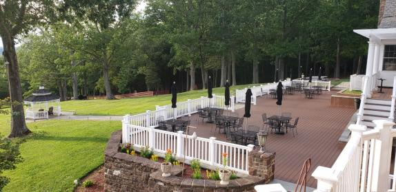 THE DECK AT THE MANOR