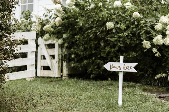 Custom Signs - Vows Here