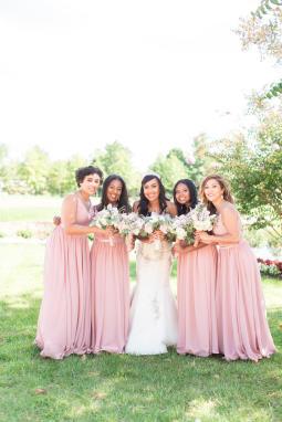 bridal party shots
