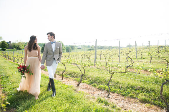 Bride & Groom - Vineyard