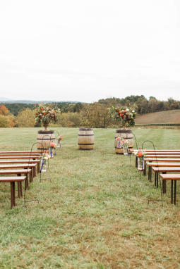 Hillside Ceremony-Wedding