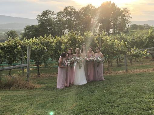 Bridal Party @ Hillsborough Vineyard