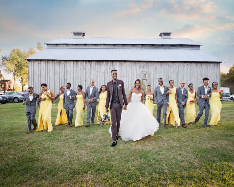 Bridal Party - Rustic Barn