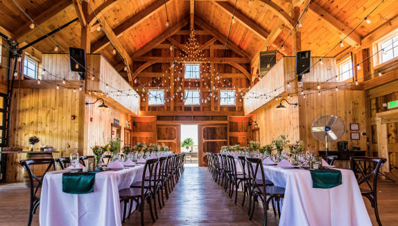 Inside Barn Wedding