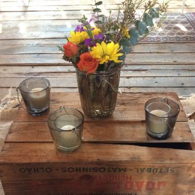 Wildflower Jars from Winding Creek Barn Wedding