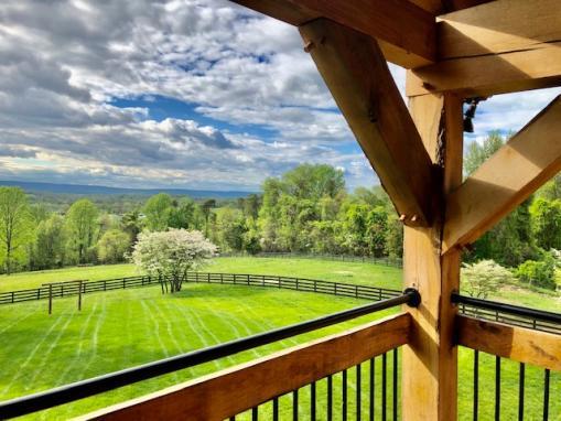The Oak Barn Porch View