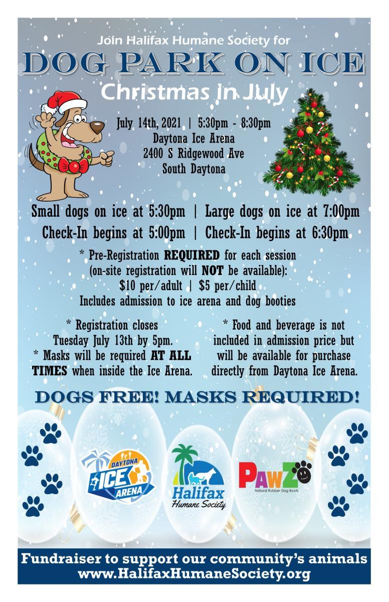 Christmas In Daytona Beach 2021 Dog Park On Ice Christmas In July South Daytona Fl 32118