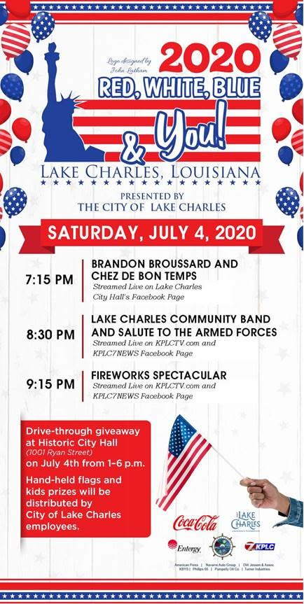 2020 Lake Charles Civic Center Kids Halloween 2020 Red, White, Blue and You! 4th of July Celebration 2020 🎆🔴⚪🔵🎇