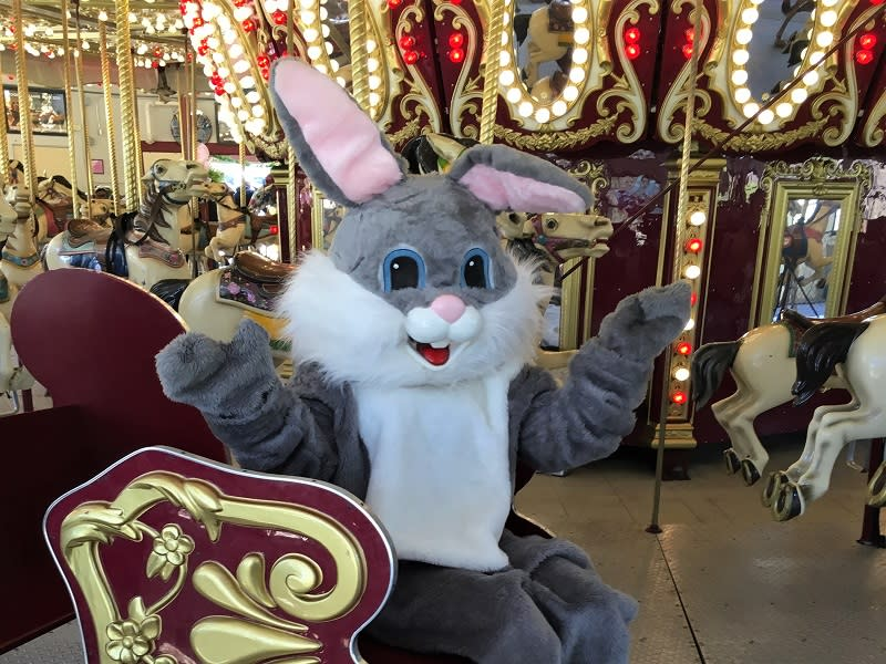 Visit with the Easter Bunny at Carousel Village 4/19 & 20