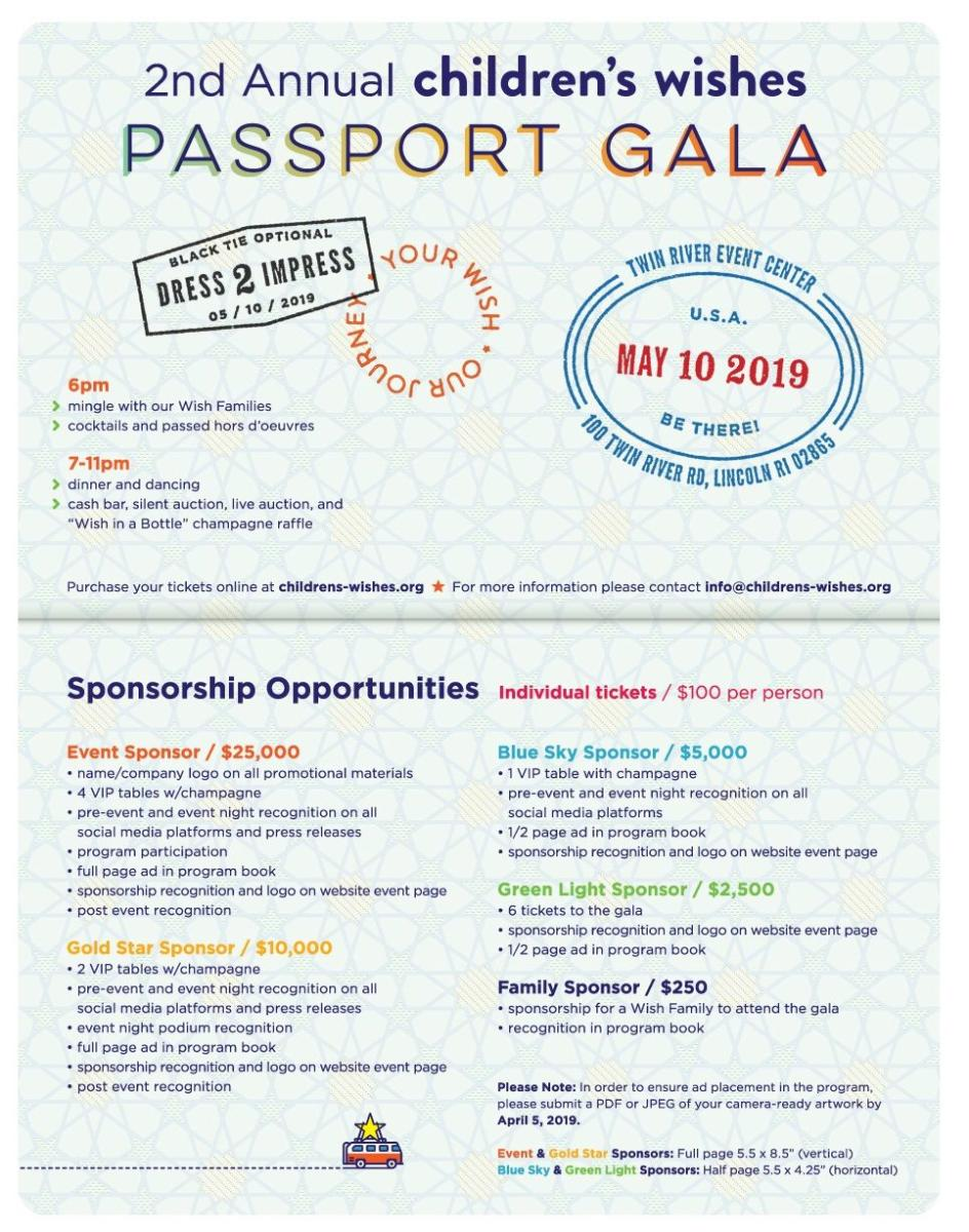 2nd Annual Children's Wishes Passport Gala