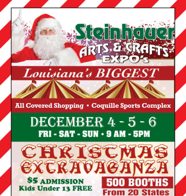 Restaurants Open On Christmas Day Near 70401 In 2020 Christmas Extravaganza Arts & Crafts Expo by Steinhauer