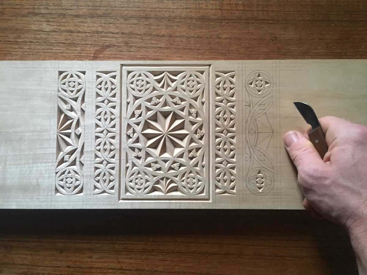 Chip carving workshop with daniel clay