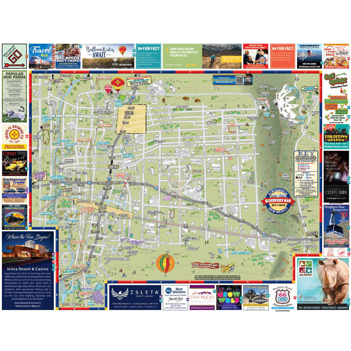 Discovery Map of Albuquerque on