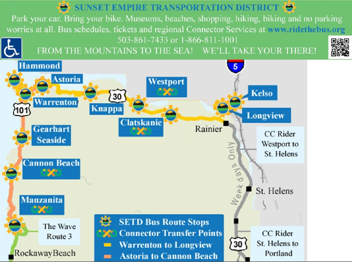 Sunset Empire Transportation District on port orford map, st. charles map, hillsboro map, albany map, gresham map, lincoln city map, manzanita map, john day map, long island map, duluth map, pacific city map, eugene map, long beach peninsula map, holden beach nc map, yachats map, silverton map, canyonville map, north plains map, oregon map, plattsmouth map,
