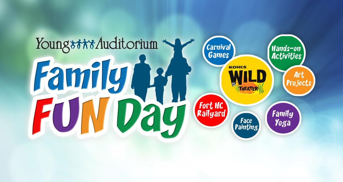 Family Fun Day at Young Auditorium on depere street map, 541 rush street map, uw map,