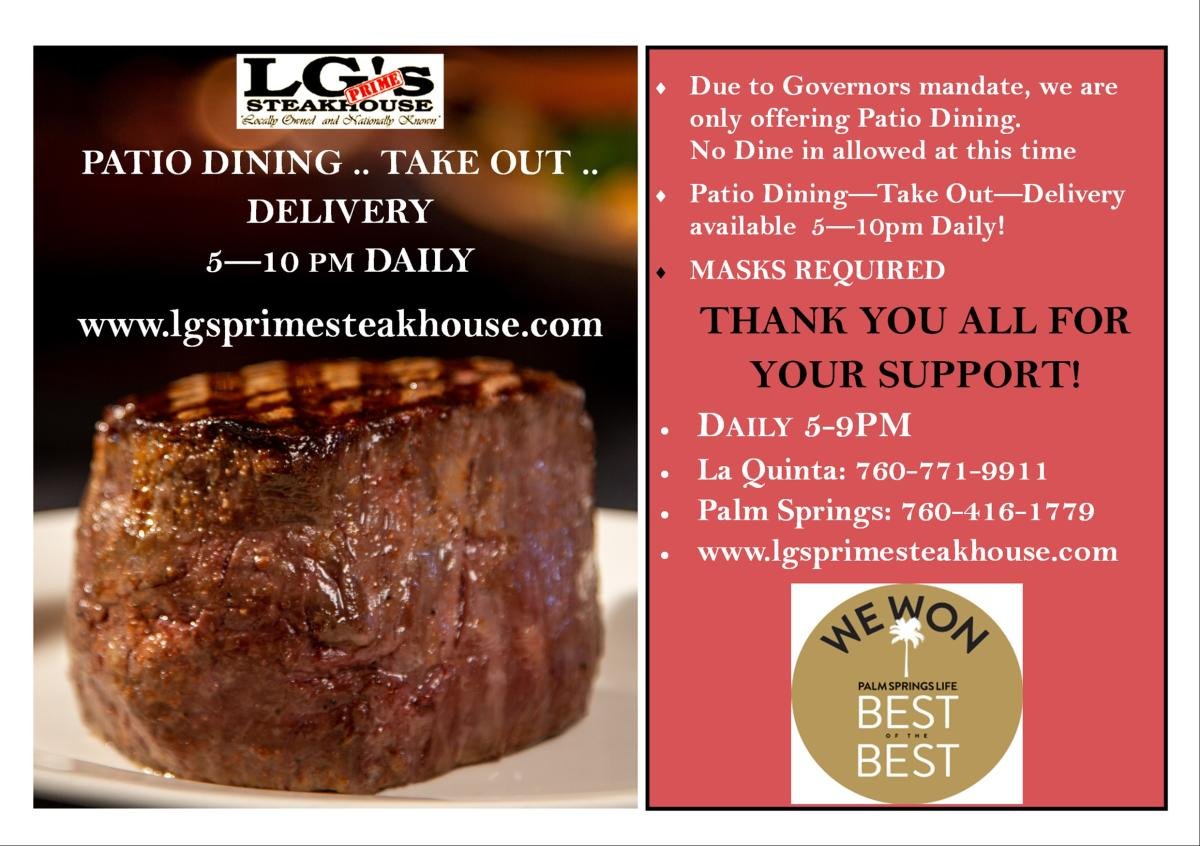 Lg S Prime Steakhouse Palm Springs