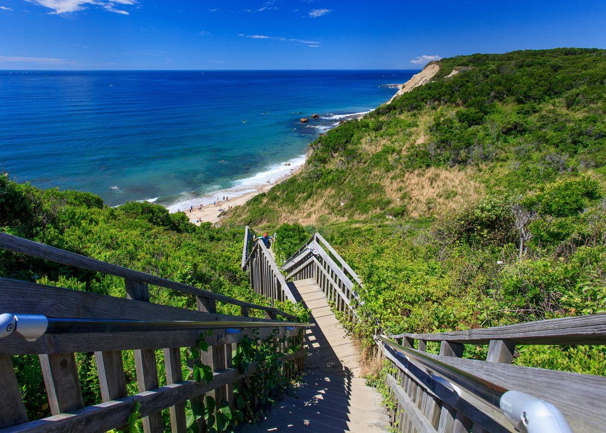 Mohegan Bluffs Afternoon Block Island Rhode Island fine