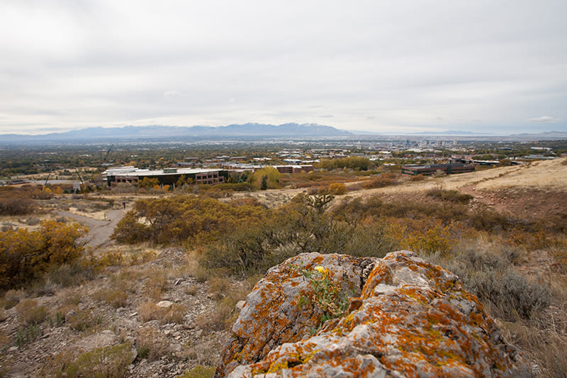 Salt Lake And The Oquirrh Mountains From The Trail, Photo By John Badila