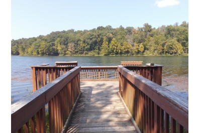 fishing pier at Celina Lake